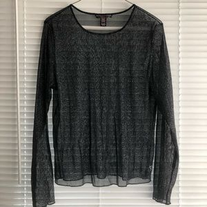 Victoria's Secret Mesh Top Long Sleeve